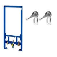 Комплект: Rapid SL Инсталяционная система для биде + Настенный уголок для монтажа перед стеной (крепёжный материал 2шт) GROHE 38553001+3855800M (thumb57926)