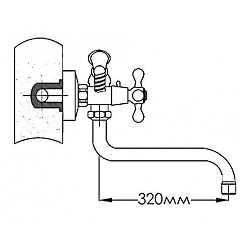 Смеситель для ванны MIXXEN АТРИУМ MXB001