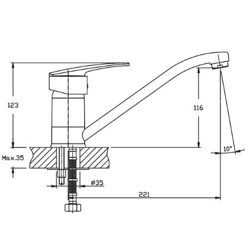 Кухонный смеситель Haiba AGAT-004 HB0004