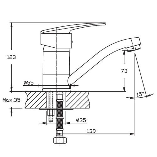 Смеситель Haiba AGAT-004 15cm HB0005