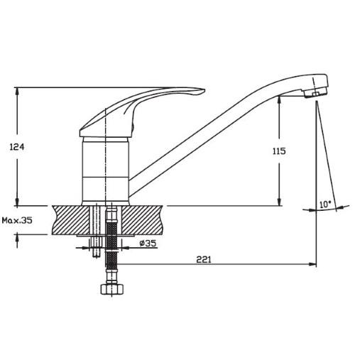 Кухонный смеситель Haiba Mars 004 HB0248