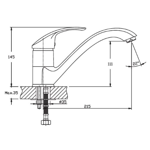 Кухонный смеситель Haiba Mars 012 HB0265