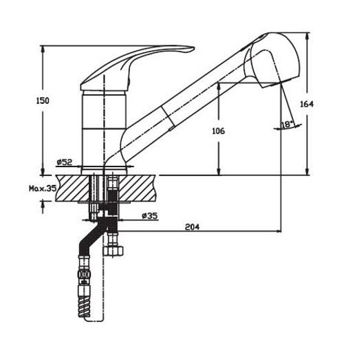 Кухонный смеситель Haiba Mars 014 HB0266