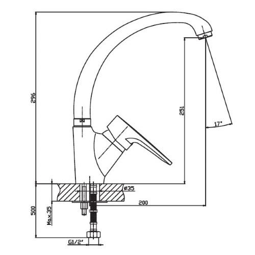 Кухонный смеситель Haiba Opus 011 HB0334