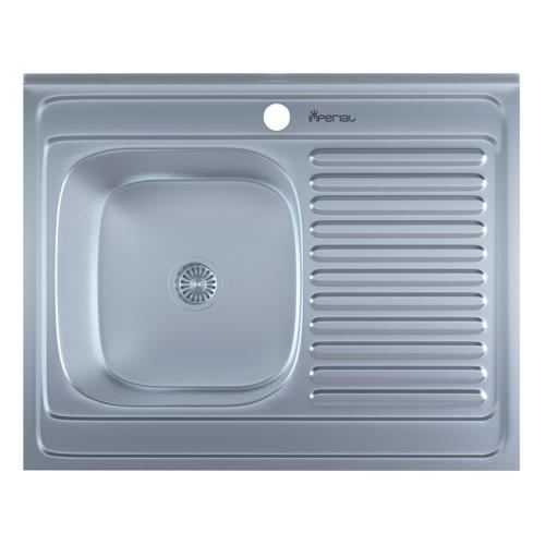 Мойка кухонная Imperial 6080-L 0,8 Satin
