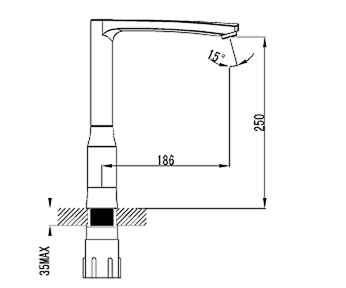 Кухонный смеситель VOLLE DANIELLA 15164400