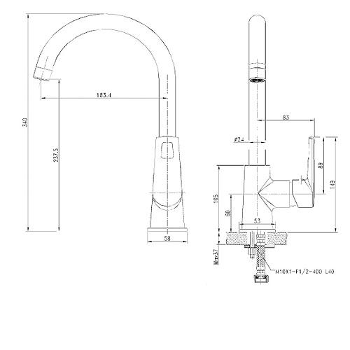 Кухонный смеситель VOLLE BENITA 15174300