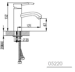 MORAVA смеситель для раковины, хром, IMPRESE 05220