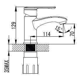 MZE смеситель для раковины, хром, IMPRESE 05130