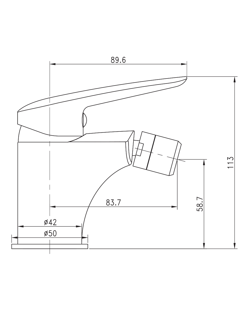 PRAHA new смеситель для биде, хром, 35 мм 40030 new IMPRESE