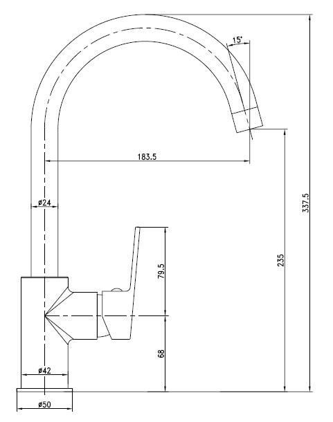 LESNA cмеситель для кухни, белый, IMPRESE 55070W