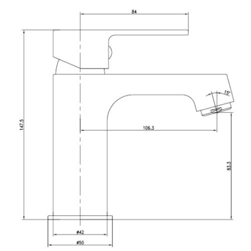 LESNA cмеситель для биде, хром, 35 мм 40070 IMPRESE