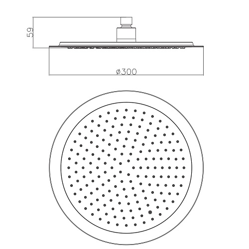 Верхний душ диаметр 300 мм S300 IMPRESE