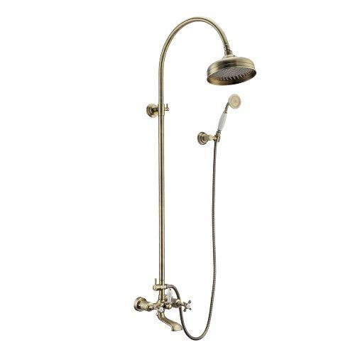 CUTHNA antiqua система душевая (двухвентильный смеситель для ванны, верхний и ручной душ), бронза T-10280 antiqua IMPRESE
