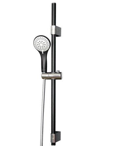 Штанга душевая (чёрная/хром) L-78 см, ручной душ (чёрный) 3 режима, шланг, блистер 7810003B IMPRESE