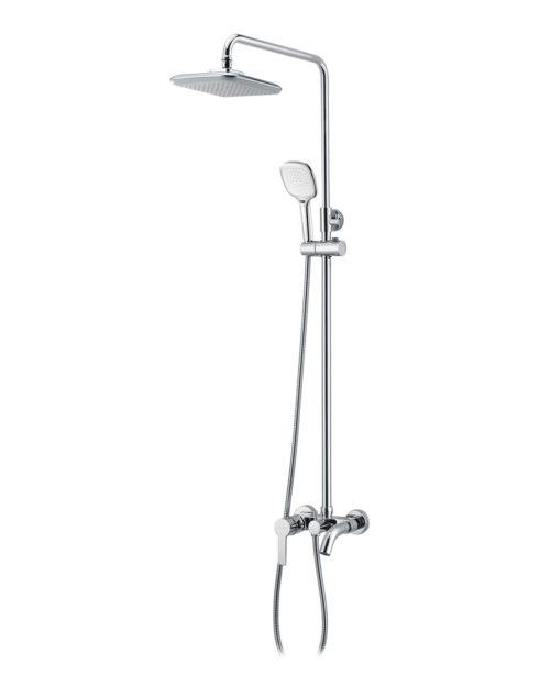 BILA DESNE система душевая (смеситель для ванны, верхний и ручной душ 3 режима, шланг 1,5м) T-10155 IMPRESE