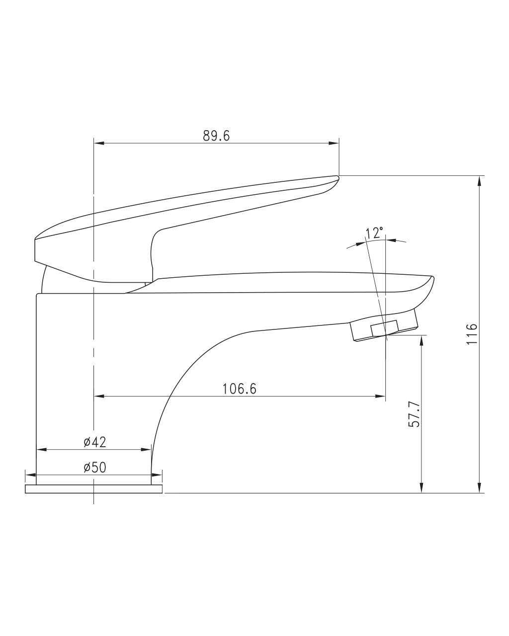 PRAHA new смеситель для раковины, хром, 35 мм 05030 new IMPRESE