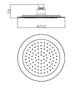 Душ верхний диаметр 210 мм S210 IMPRESE