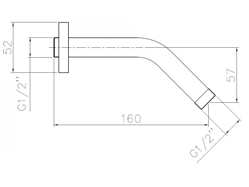Держатель лейки подкл. со стены 1/2″ SH01 IMPRESE