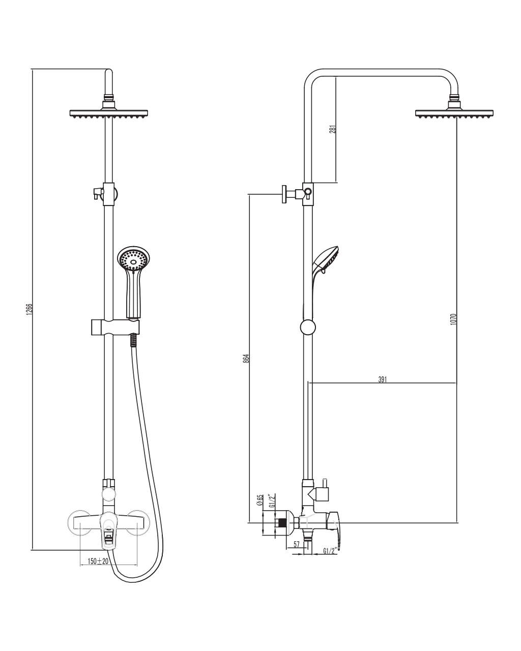 Душевая система, IMPRESE Lidice T-15095 T-15095