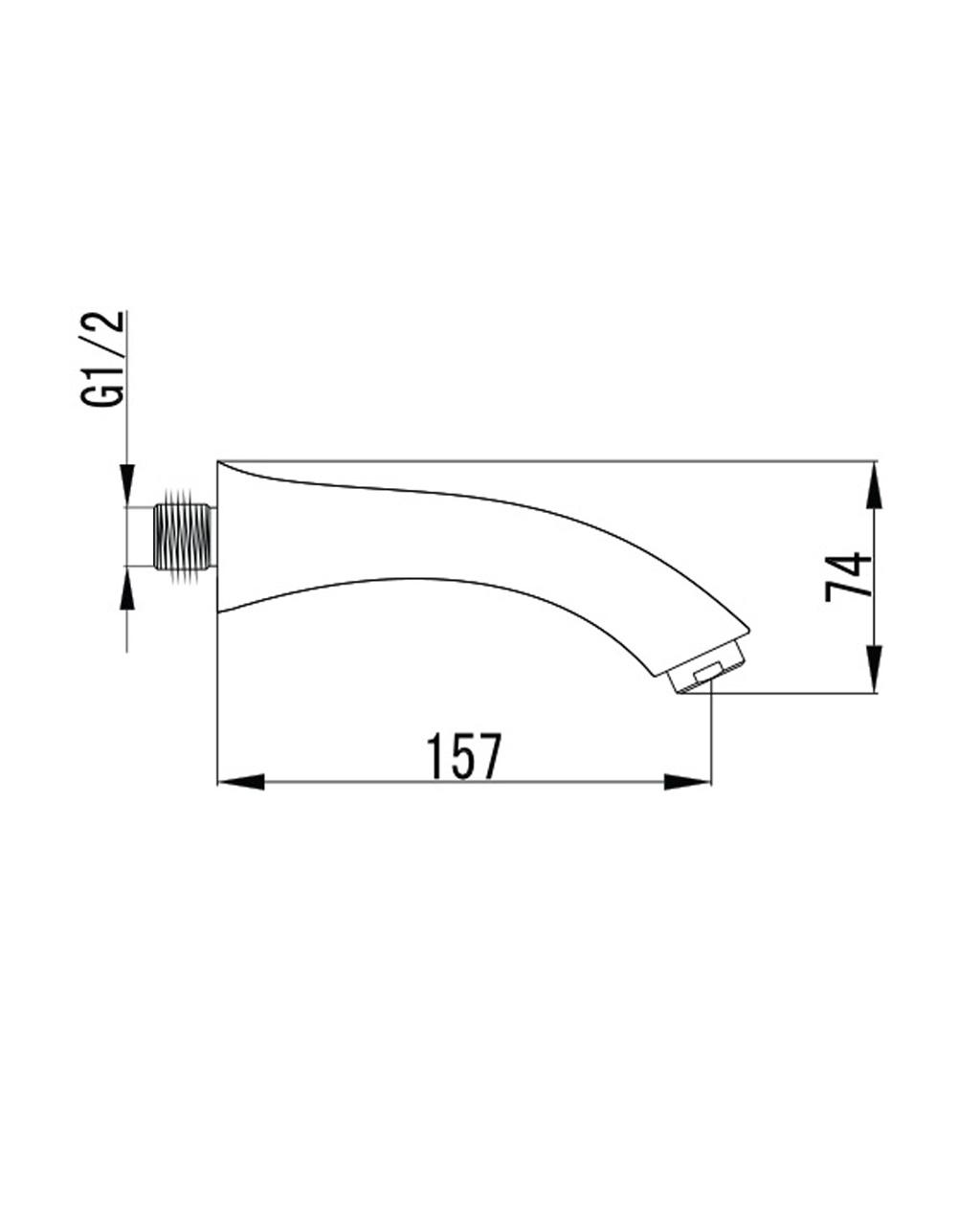 KRINICE излив для смесителя скрытого монтажа для ванны VR-10110(N) IMPRESE