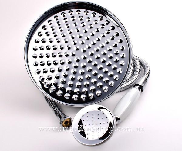 CUTHNA stribro система душевая (двухвентильный смеситель для ванны, верхний и ручной душ), хром T-10280 stribro IMPRESE