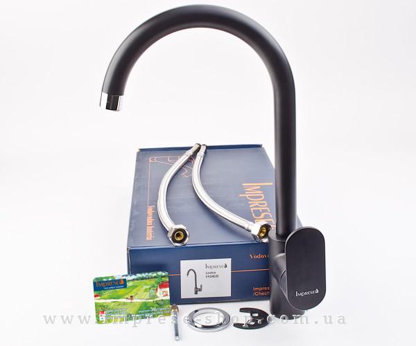 LASKA смеситель для кухни, черный, 35мм 55040B IMPRESE