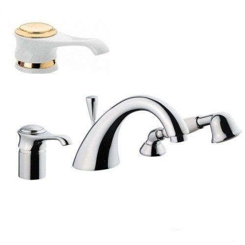Смеситель для ванны EMMEVI TIFFANY белый-золото BO60120