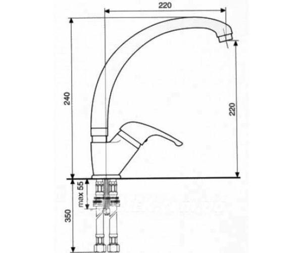 Смеситель для кухни EMMEVI CR10087G