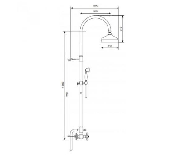 Душевая система EMMEVI DECO CR1200281