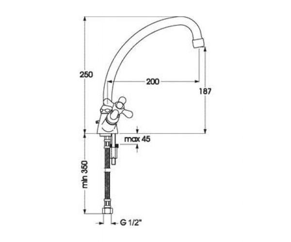 Смеситель для куxни EMMEVI Deco BR12217