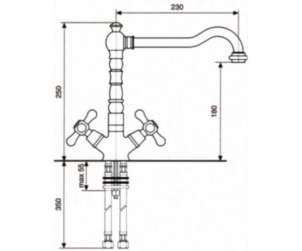 Смеситель для куxни EMMEVI DECO OLD BR12617