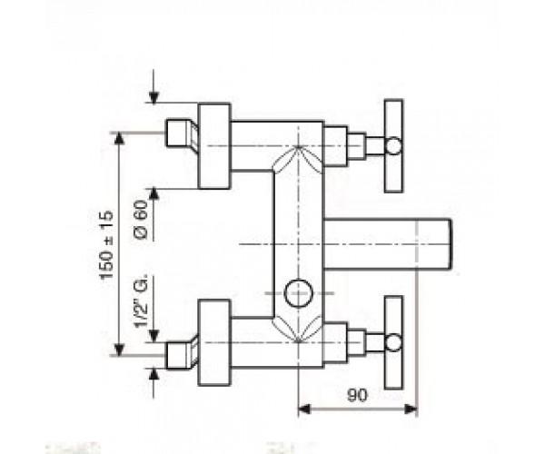Смеситель для ванны EMMEVI SPIRIT NEW CR31001