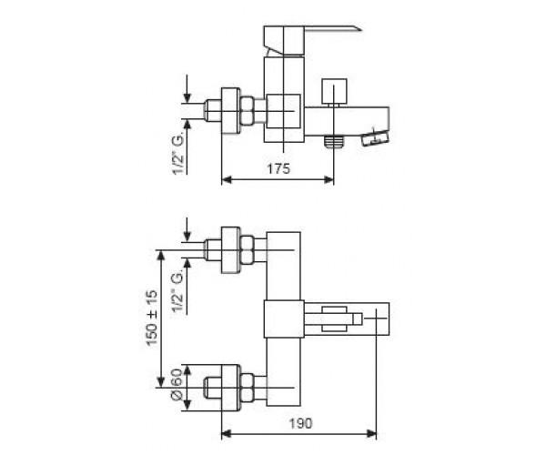Смеситель для ванны EMMEVI SICILY CR38001