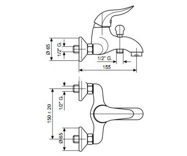 Смеситель для ванны EMMEVI DUKA CR44001