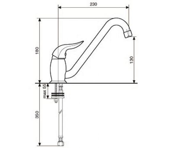 Смеситель для куxни EMMEVI DUKA CR44007