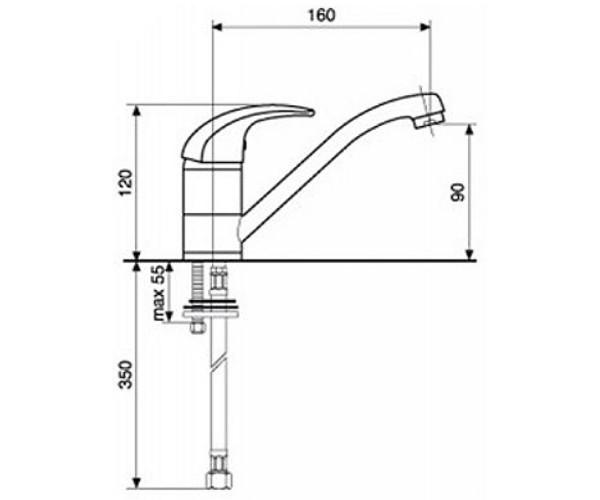 Смеситель для кухни EMMEVI LUXOR BC7007RCC 14 см