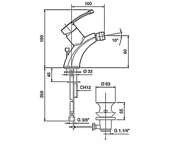 Смеситель для раковины EMMEVI PLANET сатин SC81003