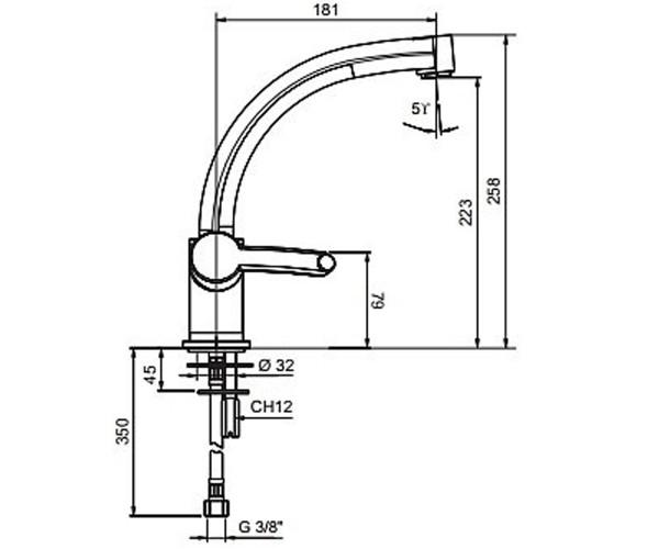 Кухонный смеситель EMMEVI PLANET сатин SC81007