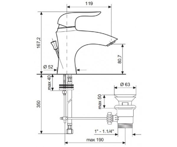 Смеситель для раковины EMMEVI NECO CR91003