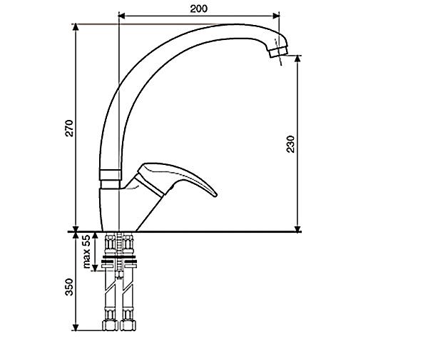Кухонный смеситель EMMEVI Granit LUXOR TF 7087