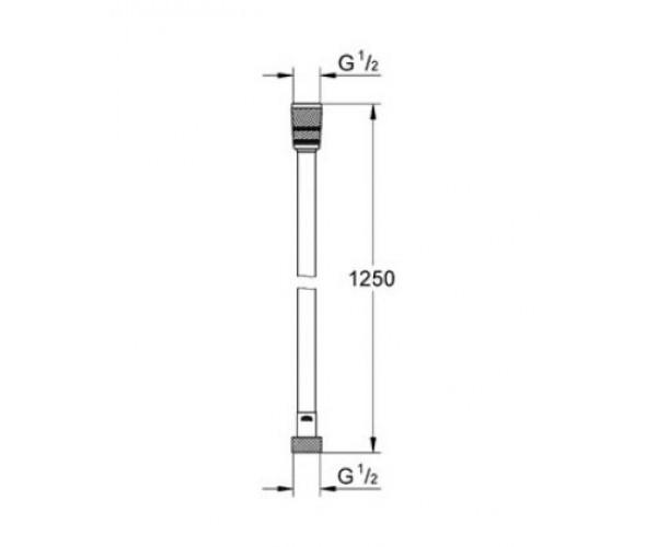 Душевой шланг GROHE Silverflex 28362000