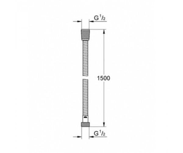 Шланг душевой GROHE Vitalio Trend 28741000