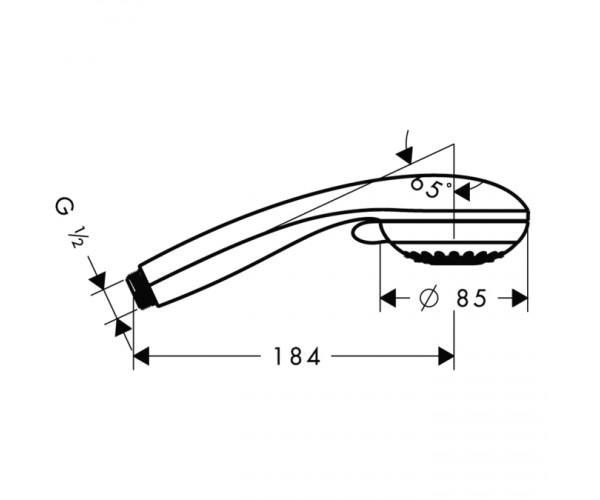 Ручной душ Multi 3jet, HANSGROHE Crometta 85 28563000