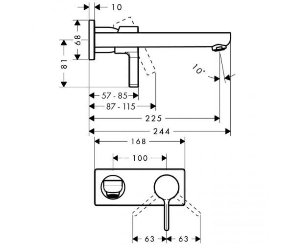 Смеситель раковины HANSGROHE METRIS S 31163000