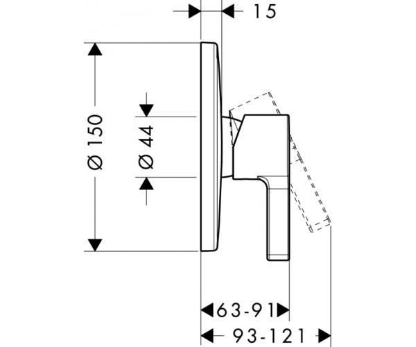 Внешняя часть смесителя HANSGROHE 31665000
