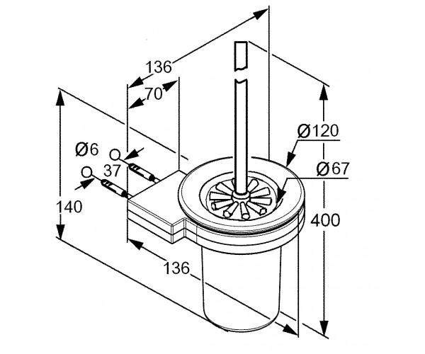 Туалетный ершик KLUDI A-XES 4897405