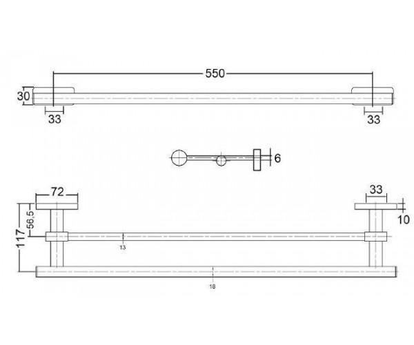 Полотенцедержатель KLUDI A-XES 4898805