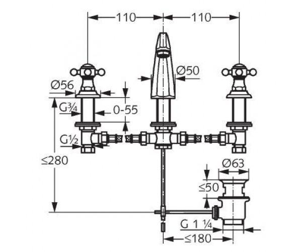 Смеситель для раковины KLUDI 510430520
