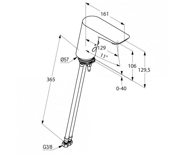 Сенсорный смеситель для раковины KLUDI BALANCE 5210005
